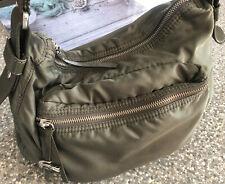 Lacoste khaki ( olive green ) small Zip  Hobo bag