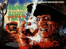 """A NIGHTMARE ON ELM STREET 2 Freddy's Revenge repro UK quad poster 30x40"""" horror"""