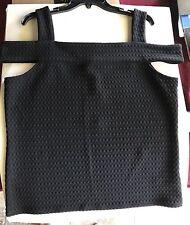 Michael Kors Black Bare Shoulder Strap Top Size XL $74