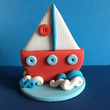 *** Edible 3D Boat Nautical Yacht Cake Topper BIRTHDAY CAKE TOPPERS ***