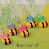 FUNKY BUSY BUMBLE BEE NECKLACE CUTE INSECT FUN KITSCH RETRO NOVELTY ANIMAL GIFT