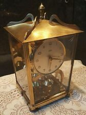 Vintage German Schatz 400 Day Carriage Anniversary Mantle Clock