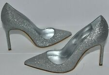 $695 NEW Manolo Blahnik BB GLITTER Silver WEDDING Pumps 36.5 37 40 40.5 41 41.5