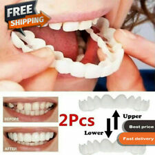 NEW SET UPPER & LOWER MAGIC COSMETIC DEN TEETH BRACE TEMPORARY SMILE COMFORT FIT