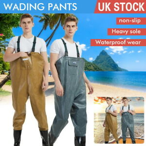 PVC Chest Waders 100% Waterproof Fly Coarse Fishing Wader Boot Full Size Pants