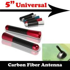 "5"" Stubby Real Carbon Fiber Aluminum Short Antenna Red Screws For NISSAN Car"