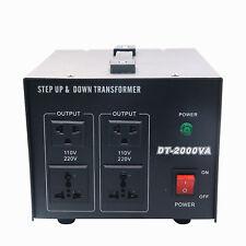 2000W Voltage Transformer Converter Step Up/Down Power Supply 220V to 110V