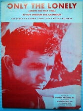 SONNY JAMES Sheet Music ONLY THE LONELY Acuff-Rose Publ. 60's POP