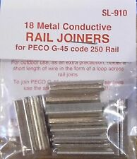 PECO SL-910 -Fishplates x18 (Track Joiners) For Peco SL-900 G-45 Gauge 250 Track