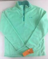 Champion Girls Mint Green Teal Fleece Quarter Zip Jacket Coat Large 10/12 NWT