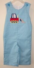 NIB Kelly's Kids Matthew Turquoise Gingham Front Loader Longall Size 6 Month