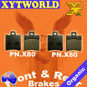 FRONT REAR Brake Pads APRILIA SR 50 Stealth/Racing LC 1997 1998 1999