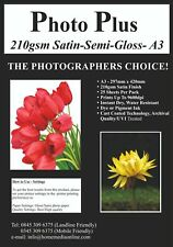 More details for photo-plus 210gsm, a3 satin photo paper, 25 sheets, by hobbyprint®