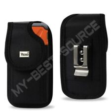 Cover Pouch TO fit Reiko Rubber Case FOR ALL Large Smart Cell Phones Metal Clip