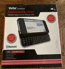 Vivitar Keyboard & Case Wireless Slide Out For Iphone 4/4s New