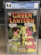 Green Lantern #52 CGC 9.4 OWW - Gil Kane / Murphy Anderson Sinestro Cover