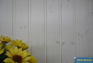 9,8€/qm Profilholz weiß transparent Profilbretter spritzwassergeschützer Bereich