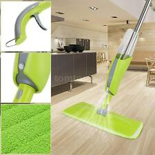 Spray Mop Cleaner With Replaceable Micorfiber Cloth And Liquid Bottle Green F4L4