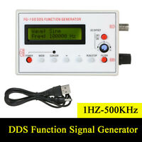New DDS Function Signal Generator Sine+Triangle+Square Wave Frequency 1HZ-500KHz