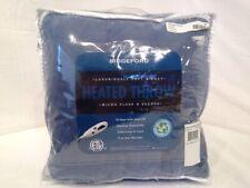 BIDDEFORD - Microplush Denim Blue Heated Throw Blanket