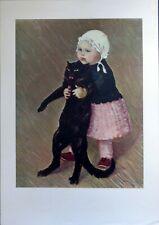 """STEINLEN - """"Petite fille au Chat"""" Lithographie Musée du Petit Palais GENEVE TBE"""