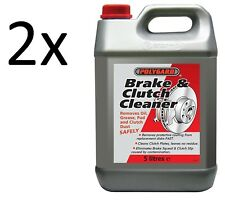 2x POLYGARD  BRAKE & AND CLUTCH PARTS CLEANER DEGREASER 5L 5 LITRE