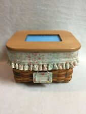 Longaberger Mother's Day (2002) Basket with Wooden Picture Lid -'Mom's Memories'