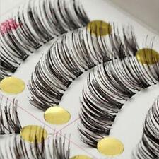 10Pairs Long Cross False Eyelashes Makeup Natural Fake Thick Black Eye Lashes j7