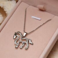 Elegant Women Fashion For Horse Shaped Hollow Pendant Necklace Jewelry