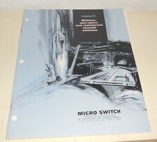 Vtg Micro Switch Catalog 52a Honeywell Military Aerospace Commercial Aircraft