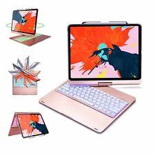 "iPad Pro 12.9""-4th Gen 360 Deg Rotation Bluetooth Keyboard Case 7 Backlit Colors"