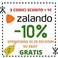 5 CODICI SCONTO -10% PER ZALANDO.IT - SPEDIZIONE PER EMAIL IN 30SECONDI 24/7