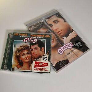 GREASE Musical 1978 DVD + SONGBOOK  + CD Olivia Newton John Travolta R4 FREE POS
