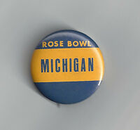 1970 Michigan Wolverines Rose Bowl button vintage original pin NCAA football