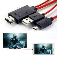 2 meter MHL Micro USB to HDMI 1080p HDTV Cable Adapter For Android Samsung S3 S4