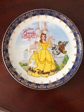 Arribas Disney Beauty And The Beast Belle Walt Disney World Plate