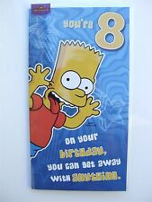 Simpsons 'tongue out' birthday card age 8 (EIGHT) by Hallmark – 11103419