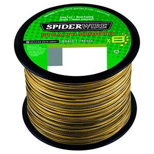 (0,10€/m) Spiderwire Stealth Smooth 8 Camo geflochtene Angelschnur 100-2000Meter