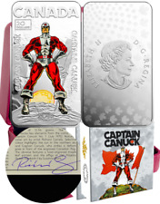 2018 Captain Canuck $20 1OZ Pure Silver Proof Coloured Coin Canada Artist-Signed