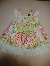 Mustard Pie Kumari Garden print flutter Sleeve Dress 2T