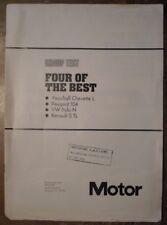 VAUXHALL CHEVETTE PEUGEOT 104 VW POLO RENAULT 5 1976 UK Mkt Road Test Brochure