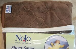 NoJo Crib Sheet Saver Liner Protector Brown Soft Quilted Water Resistant