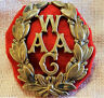WW1 ERA BRITISH  WOMEN'S ARMY AUXILIARY CORPS UNIFORM CAP BADGE