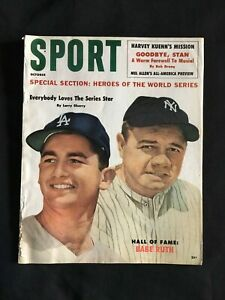 1960 SPORT Magazine BABE RUTH New York Yankees on Cover Full Issue