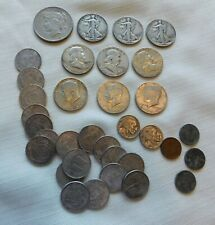 Junk Drawer Lot Of Silver Coins,Foreign And Other Types Of Coins.