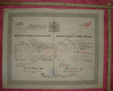 Schutzschein Deutsches Kaiserreich Sofia1912 protection passport German Empire