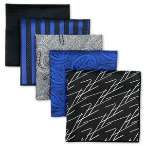 SHLAX&WING Assorted 5 Pieces Mens Pocket Square Set Handkerchiefs