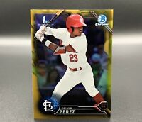 Delvin Perez 36/50 Gold 2016 1st Bowman Draft Chrome BDC-31 RC Cardinals MLB