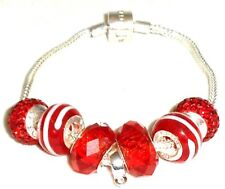 5605 - New Rhona Sutton 925 Sterling Silver 19 cm Bracelet Complete with Beads
