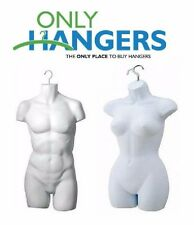 Only Hangers New Male & Female Torso Body Mannequin Forms With Hook For Hanging